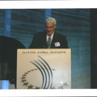 Tom Golisano on Podium at the Clinton Global Initiative Photograph c.2007 Box17F13.jpg