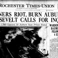 Front page, Rochester Times-Union, July 29, 1929