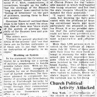 """Prison riots lead Gov. Roosevelt to question system,"" article in Rochester Times-Union, July 30, 1929"